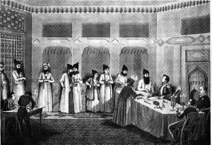 Official Ceremony of Enforcement of Turkmanchayi Treaty between the Gajar and  Russia Empires